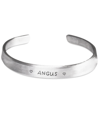 Angus Clan Name Stamped Bracelets | 1sttheworld.com
