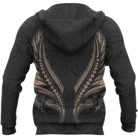 Image of Maori Fern Tattoo Zipper Hoodie A7