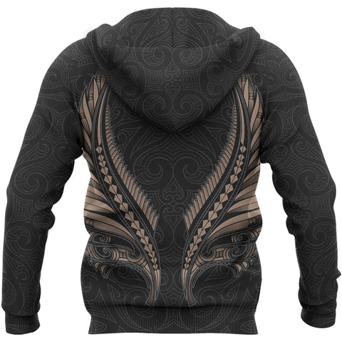 Aotearoa New Zealand - Maori Fern Tattoo Zipper Hoodie | Women and Men