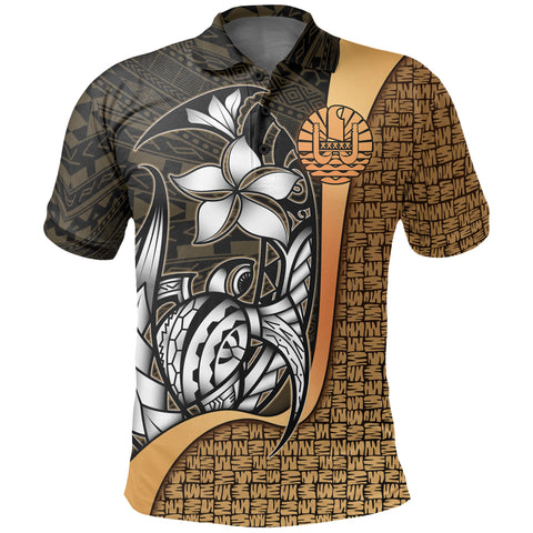 Tahiti Polo Shirt Gold - Turtle with Hook