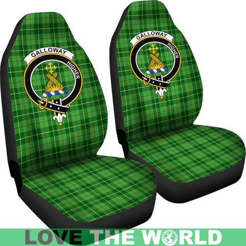 Image of Galloway Clan Badges Tartan Car Seat Cover Ha5