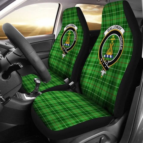 Image of Galloway Tartan Car Seat Cover - Clan Badge