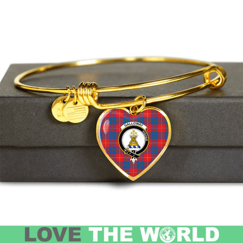 Galloway Red Tartan Golden Bangle - Tm Jewelries