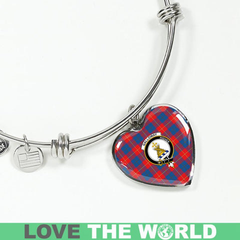Galloway Red Tartan Silver Bangle - Sd1 Luxury Bangle (Silver) Jewelries