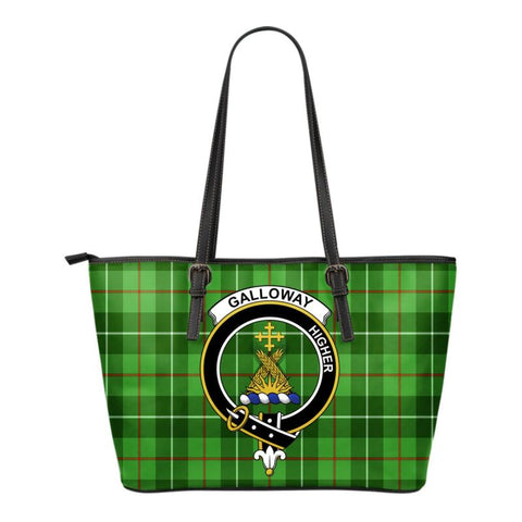 Galloway Tartan Clan Badge Small Leather Tote Bag C20 Totes