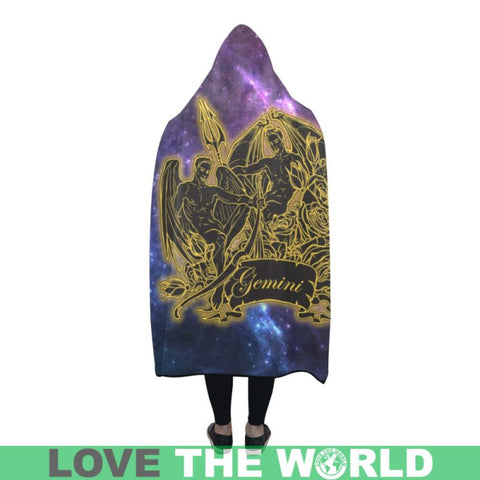 Gemini Zodiac Hooded Blanket - M 80X56 / Gemini Zodiac Hooded Blanket Lèýn Hooded Blanket Blankets