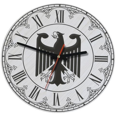 Germany Eagle Wooden Wall Clock J7