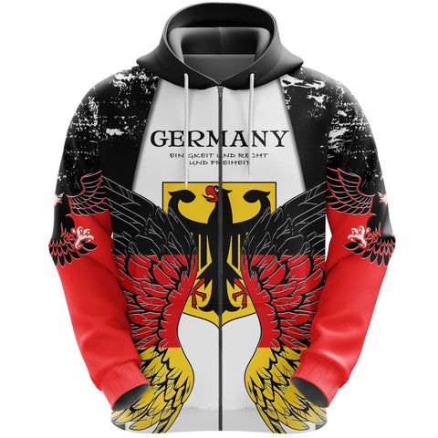 Germany Eagle Wings Zip Hoodie K5