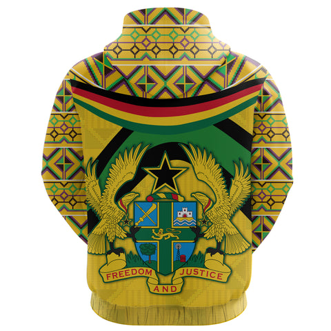 Image of Ghana Kente Hoodie - Vibes Version K8