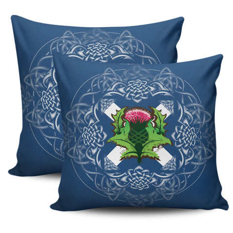 Scotland Pillow Cases - Saltire Thistle Zippered Pillow