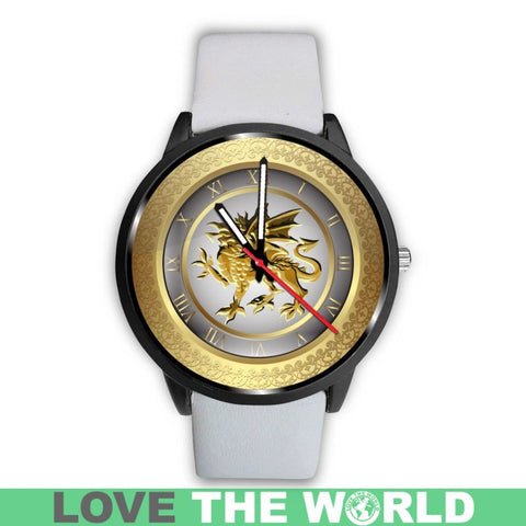 Image of Cymru Dragon䋢 Leather/Steel Watch Th7 |Men and Women| 1sttheworld