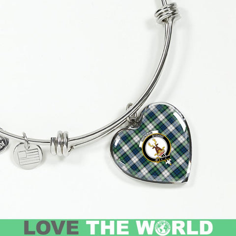 Image of Gordon Dress Ancient Tartan Silver Bangle - Sd1 Luxury Bangle (Silver) Jewelries