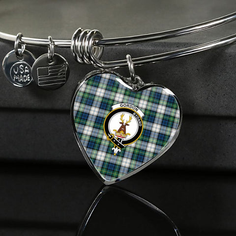 Gordon Dress Ancient Tartan Silver Bangle - Sd1 Luxury Bangle (Silver) Jewelries