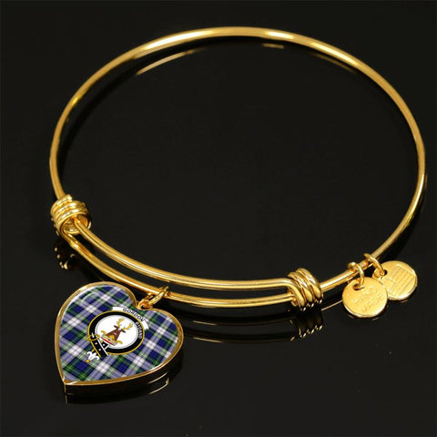 Image of Gordon Dress Modern Tartan Golden Bangle - Tm Adjustable Bangle Jewelries