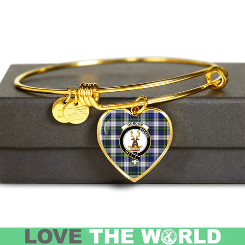 Gordon Dress Modern Tartan Golden Bangle - Tm Adjustable Bangle Jewelries