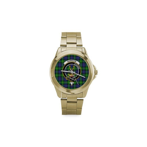 Gordon Modern Tartan Clan Badge Custom Gilt Watch | 1sttheworld.com