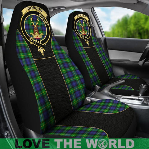 Gordon Modern Tartan Clan Badge Golden Car Seat Covers Dm1