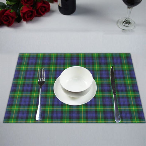 Gordon Modern Tartan Placemat 14 Inch X 19 (Six Pieces) - Tk1 Placemats