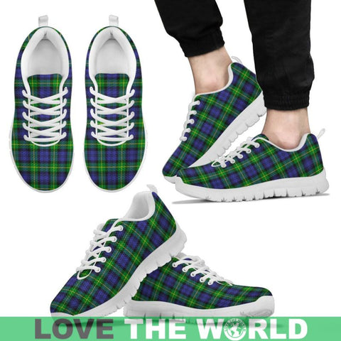 Image of Gordon Modern Tartan Sneakers - Bn Mens Sneakers Black 1 / Us5 (Eu38)