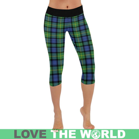Gordon Old Ancient Tartan Capri Legging S2 Xxs / New Low Rise Capri Leggings (Flatlock Stitch)