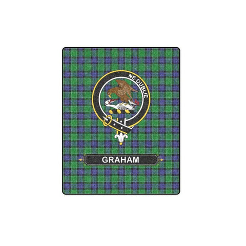 Graham Tartan Blanket | Clan Crest | Shop Home Decor