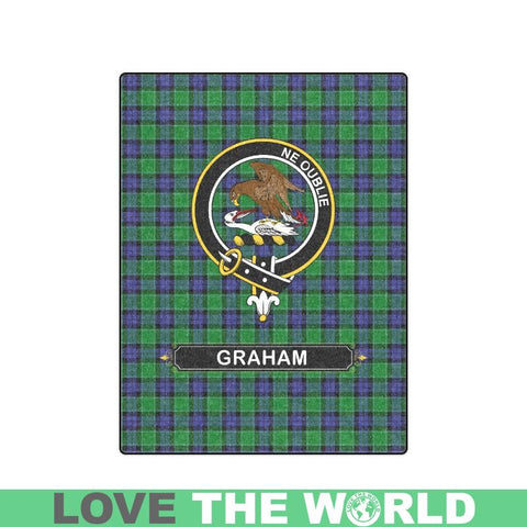 Image of Graham Tartan Blanket | Clan Crest | Shop Home Decor