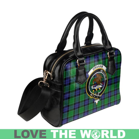 Graham Of Menteith Modern Tartan Shoulder Handbag - Bn Pu Handbags