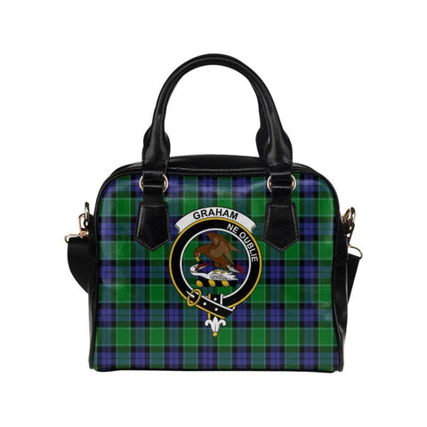 Image of Graham Of Menteith Modern Tartan Shoulder Handbag - Bn Pu Handbags