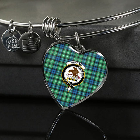 Graham Of Montrose Ancient Tartan Silver Bangle - Sd1 Luxury Bangle (Silver) Jewelries