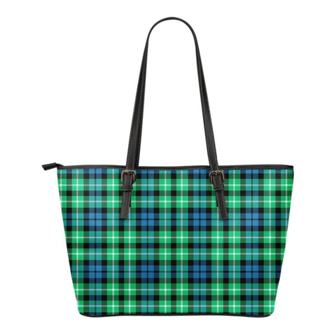 Graham Of Montrose Ancient Tartan Small Leather Tote Bag Nl25 Totes