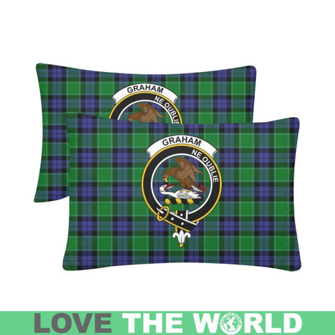 Image of Graham Tartan Clan Badge Rectangle Pillow Hj4 One Size / Graham Of Menteith Modern Custom Zippered