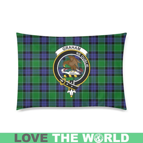 Graham Tartan Clan Badge Rectangle Pillow Hj4 One Size / Graham Of Menteith Modern Custom Zippered