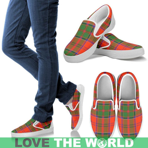 Image of Grant Ancient Tartan Slip Ons Womens Slip Ons - White / Us6 (Eu36)
