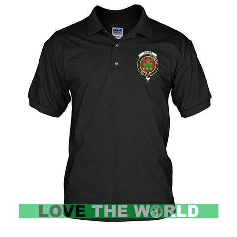 Grant Badge Men Tartan Polo Shirt | Over 300 Clans Tartan | Special Custom Design | Love Scotland