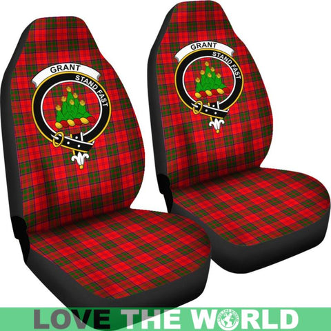 Grant Clan Badges Tartan Car Seat Cover Ha5