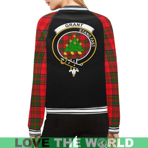 Grant Tartan Clan Badge Modern Bomber Jacket S2 Xs / Men Jackets