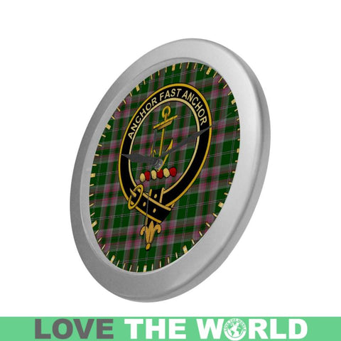 Gray Clan Tartan Wall Clock A9 Clocks