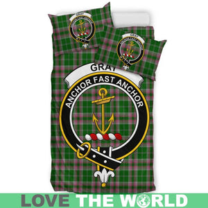 Gray Hunting Clan Badge Tartan Bedding Set K7