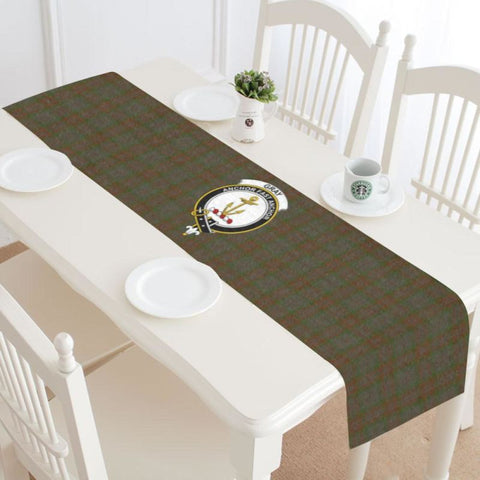 Image of Gray Tartan Table Runner - Tm Runners
