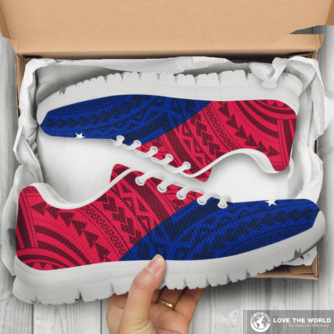 Image of Polynesian Samoa Flag Sneakers | Men & Women | Footwear