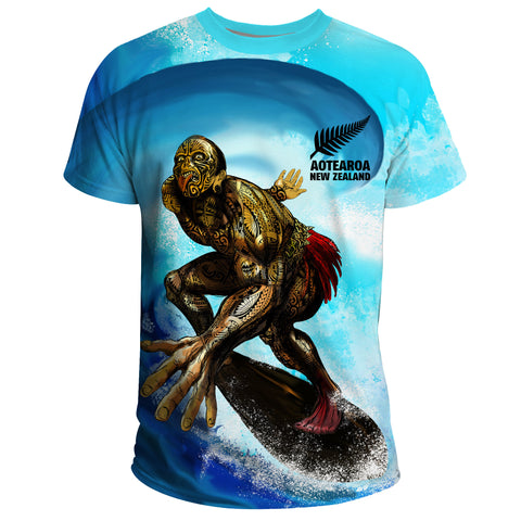 Image of New Zealand T-Shirt Aotearoa Surf | Women & Men