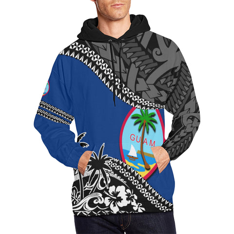 Guam Hoodie Fall In The Wave - For Man