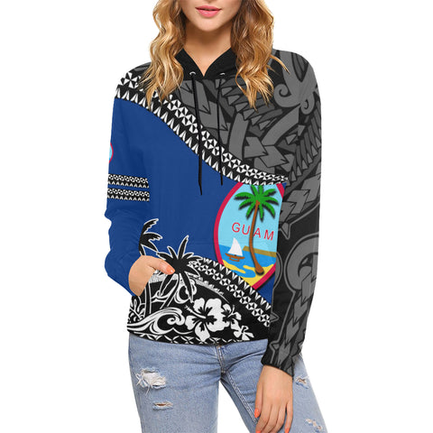 Guam Hoodie Fall In The Wave - For Woman
