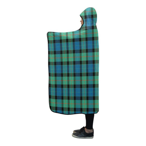 Gunn Ancient Tartan Hooded Blanket - Tn One Size / 80X56 Blankets
