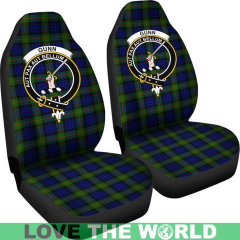 Image of Gunn Clan Badges Tartan Car Seat Cover Ha5