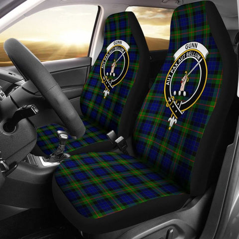 Image of Gunn Tartan Car Seat Cover - Clan Badge
