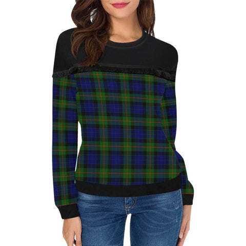 Image of Gunn Modern Tartan Women's Fringe Detail Sweatshirt - BN |Clothing| 1sttheworld