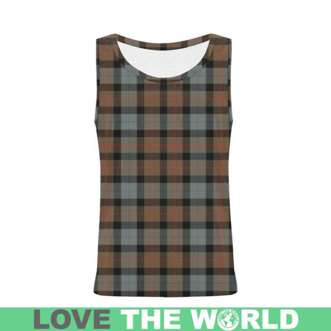 Gunn Weathered Tartan All Over Print Tank Top Nl25 Xs / Men Tops