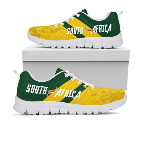 1stTheWorld South Africa Sneakers - South African Rising King Protea Yellow A10