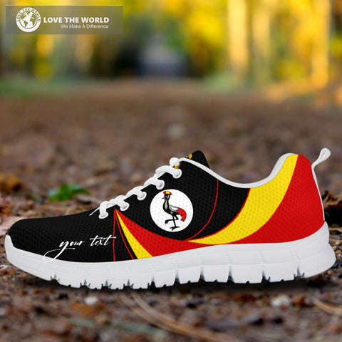 1stTheWorld (Custom) Uganda Sneakers, Uganda Strong Flag Personalize Signature A10